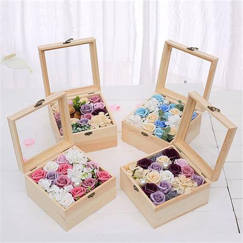 wooden flower box  gift  girlfriend wife rose