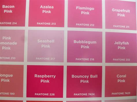 pink color names on the stripey on a saturday morning pantone colours