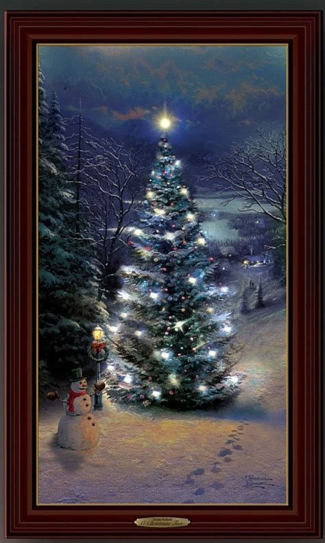 tree wall hanging framed canvas print  lights