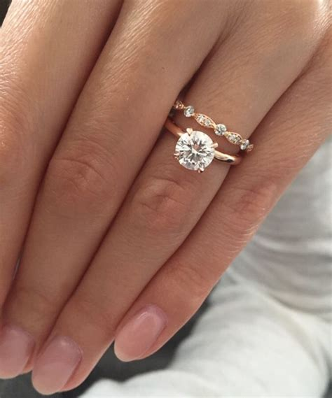 is the engagement ring also the wedding ring gold solitaire engagement ring with deco wedding band