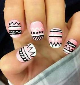 Tribal print nails | Nails art | Pinterest