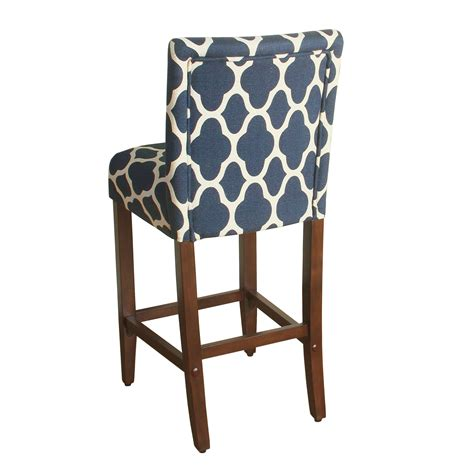 darby counter stool blue homepop geo brights navy blue upholstered barstool 29 quot bar 6418