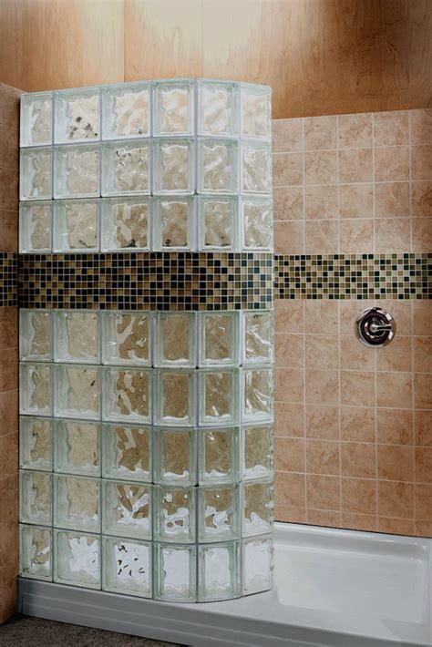 steps  convert  tub   glass block walk  shower