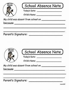 6 best images of printable notes for school absence for Absent notes for school templates