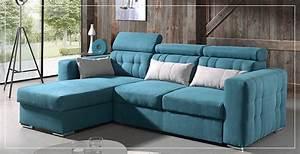 Canapé D Angle Bleu Pétrole : canap d 39 angle bleu sofamobili ~ Teatrodelosmanantiales.com Idées de Décoration