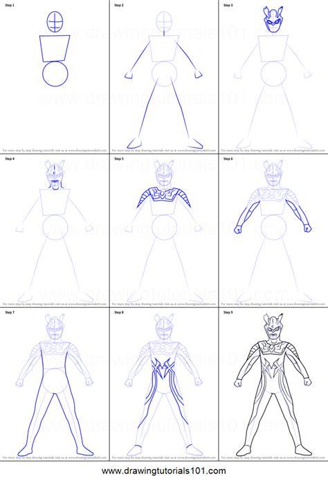 draw ultraman  printable step  step drawing sheet drawingtutorialscom