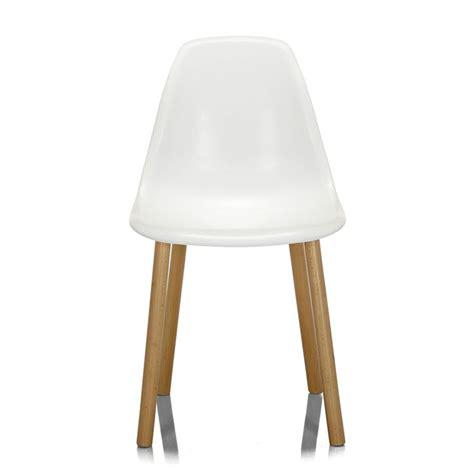 chaise blanche alinea chaise blanche avec piétement en bois design scandinave