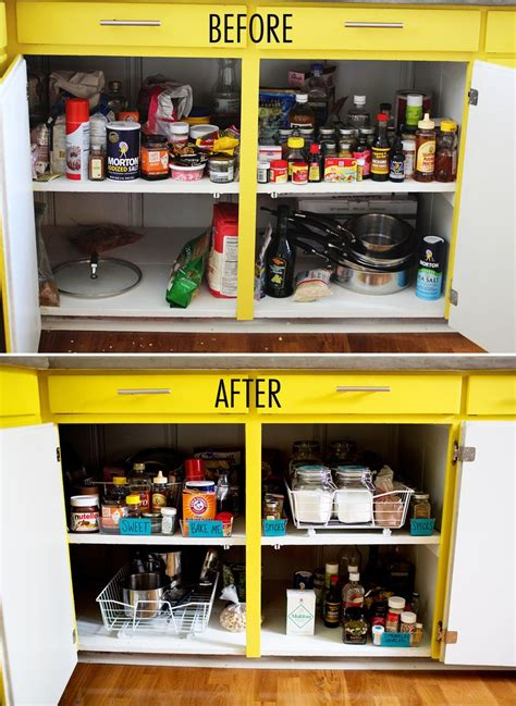 how to organize small kitchen cabinets get organized kitchen cabinets a beautiful mess