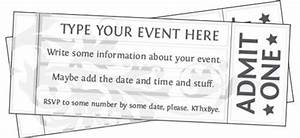 Free Editable, Printable Event Tickets | Classroom ...