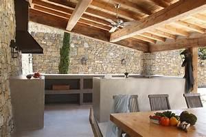 cuisines d39exterieur en beton cire marius aurenti With bar exterieur en pierre
