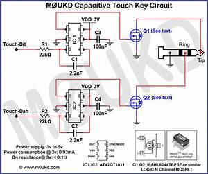 Capacitive Cw Touch Key Circuits  U2013 M0ukd  U2013 Amateur Radio Blog