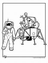 Astronaut Coloring Pages Space Moon Colouring Landing Print Astronauts Activities Template Button Fantasy Nasa Printable Camp Jr Printer Send Special sketch template