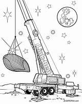 Crane Coloring Pages Truck Construction Drawing Printable Drag Tower Cartoon Drawings Sketch Print Attic Getdrawings Sheet Illustration Template Belt Link sketch template