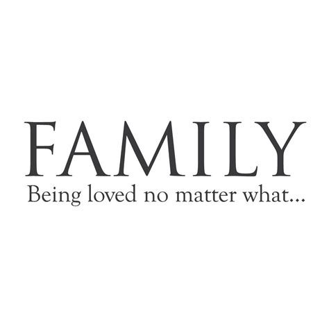 wall quotes wall decals family  loved  matter