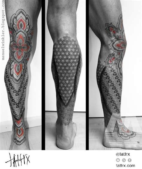 geometric leg tattoo poisk  google tatu pinterest