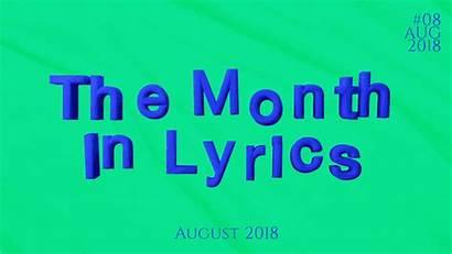 Genius August Month Presents Lyrics
