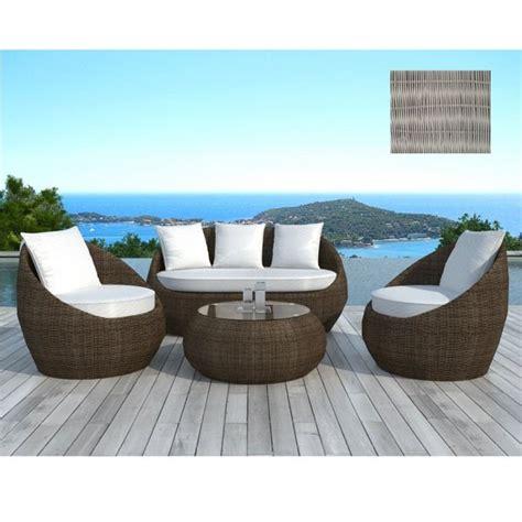 Salon de jardin design Rondo gris Couleur Gris u2026 - Achat / Vente salon de jardin Salon de jardin ...