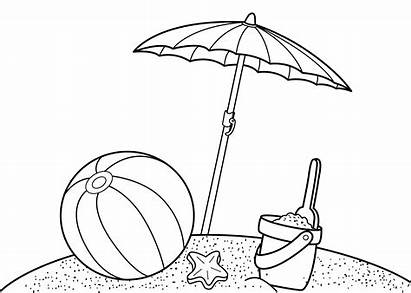 Coloring Summer Printable Pages Beach Sheet
