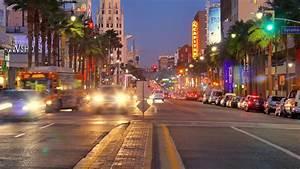 Night Traffic On Hollywood Boulevard Stock Footage Video ...  Hollywood