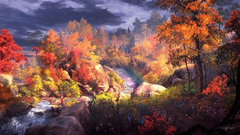 Autumn Wallpapers 4k by Autumn Painting 4k Painting Wallpapers Hd