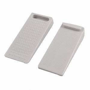 Pair Light Gray Rubber Nonslip Door Wedge Stop Stoppers LW ...