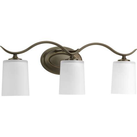 home depot bathroom vanity lights bronze progress lighting inspire collection antique bronze 3