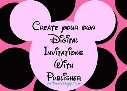 Minnie Mouse Invitations Invitation Birthday Digital Party