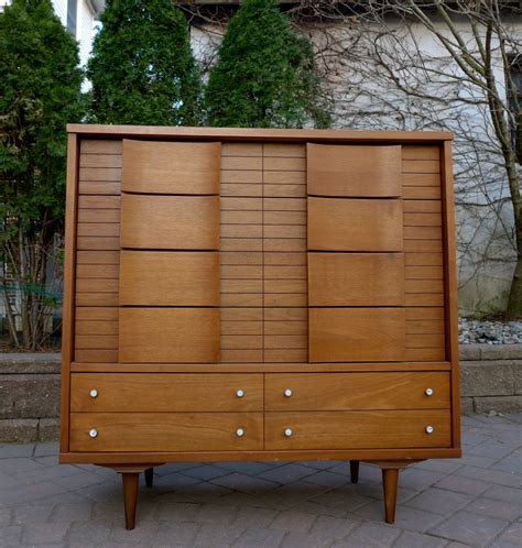 Johnson Carper White Dresser by Mid Century Modern Dresser Highboy Johnson Carper