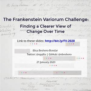 Frankenstein Variorum  January 2020
