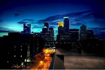 Minneapolis Skyline Msp Wallpapers Dusk Wallpapersafari Night