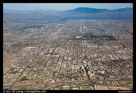 Picture/Photo: Aerial view of downtown Tucson and street ...