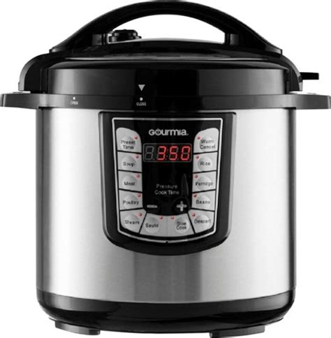 cooker pressure pot quart gourmia stainless steel electric digital qt cookers cooking programmable fryer multi air cook smartpot multifunction smart