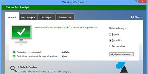 télécharger gratuitement windows defender pour windows 10