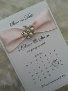 Pearle personalised save the date cards sold in packs of for Luxury handcrafted wedding invitations