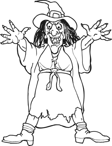 scary witch coloring pages witch coloring pages