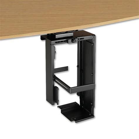under desk laptop holder locking under desk pc holder from lindy uk