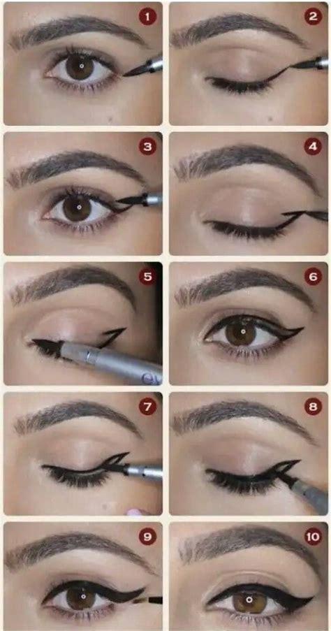 Paso a paso delineado de ojo de gato Tutorial maquillaje