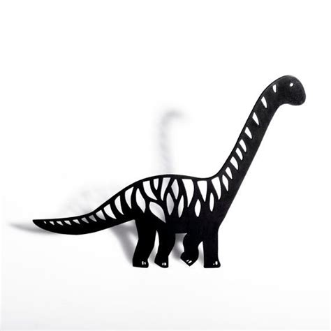 brontosaurus shadow puppet laser cut dinosaur shadow