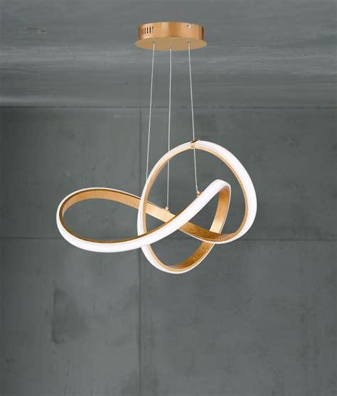 large twisted swirl led gold pendants