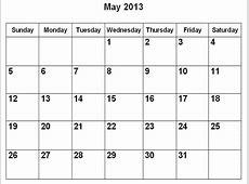 April 2013 Calendar Printable » Calendar Template 2018