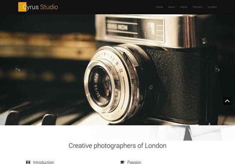 bootstrap photography themes