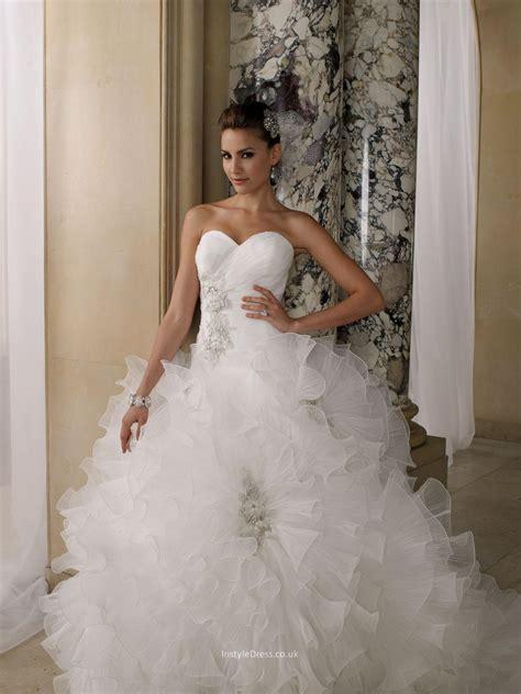 wedding dresses uk pleated organza ruffled sweetheart gown wedding dress uk instyledress co uk