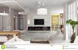 Kaminholz Aufbewahrung Innen : int rieur de luxe d 39 appartement avec la chemin e illustration stock illustration du int rieur ~ Sanjose-hotels-ca.com Haus und Dekorationen