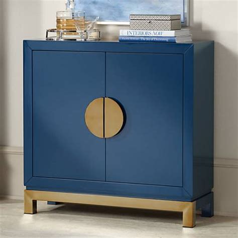 blue accent cabinet walden glossy blue 2 door accent cabinet 1w429 ls plus
