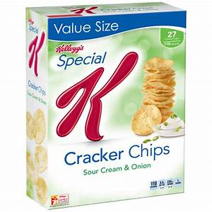 Kellogg's Special K Sour Cream & Onion Cracker Chips Baked ...
