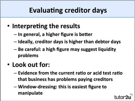 Creditor (Payables) Days