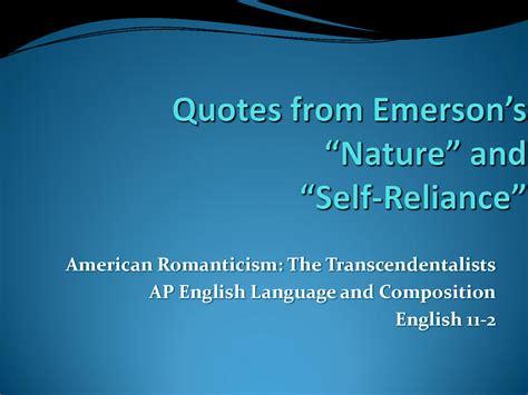 Self Reliance Transcendentalism Quotes