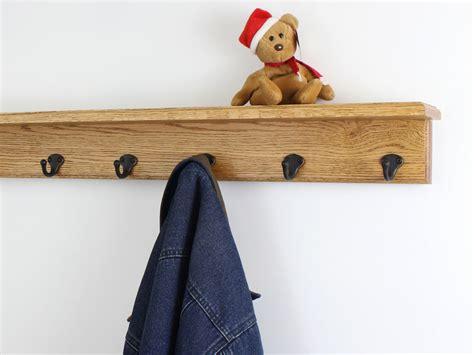 shelf with coat hooks solid oak shelf coat racks 3 to 10 single style hook