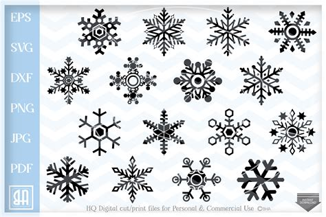 The svg and dxf files can be imported to a number of paper craft programs, such as silhouette cameo and cricut. Snowflakes Svg - Snowflake SVG - Christmas bundle SVG