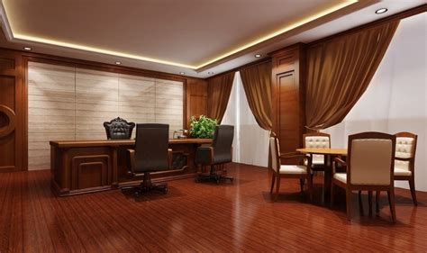 Simple European Style Sales Office Reception Room Interior